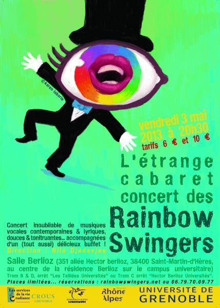 L'étrange cabaret des Rainbow Swingers le vendredi 03 mai 2013 !!