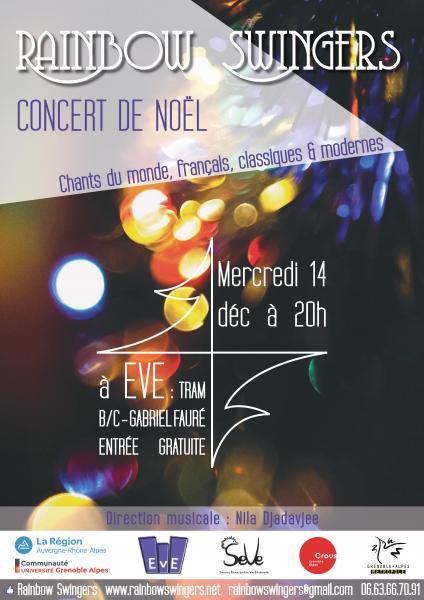 Concert gratuit à EVE merc 14 déc à 20h !!