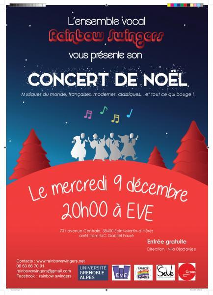 Concert Noël gratuit le 9 décembre à 20h !